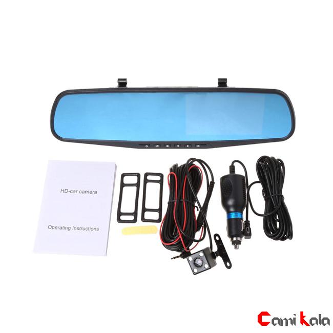 مانیتور آیینه ای دو دوربین خودرو 4.3 اینچی ، جعبه سیاه دو دوربین خودرو ، دوربین دنده عقب خودرو مانیتور دو دوربین DVR آیینه ای خودرو دو دوربین خودرو DVR مانیتور آیینه ای دو دوربین خودرو 4.3 اینچی ، DVR آیینه ای خودرو دو دوربین ، دوربین مدار بسته خودرو ، DVR خودرو