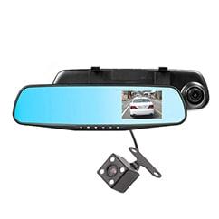 DVR مانیتور آیینه ای دو دوربین خودرو 4.3 اینچی