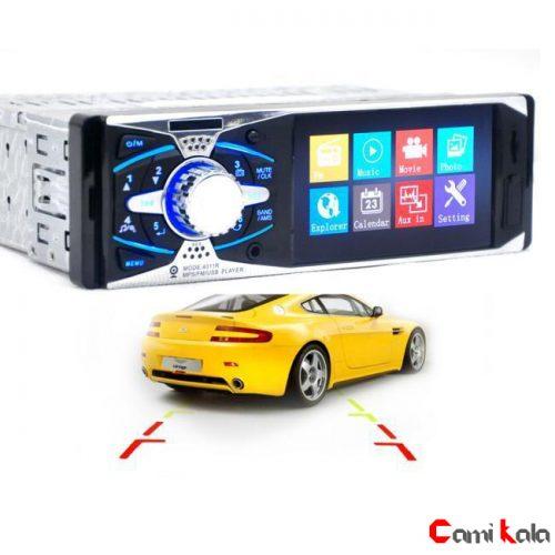 پخش کننده خودرو تصویری Car MP5 Player 4011 BS با صفحه نمایش 4.1 اینچی بلوتوث دار فلاش خور با ورودی دوربین دنده عقب خودرو و خروجی سیستم