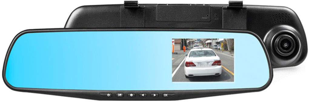 DVR مانیتور آیینه ای دو دوربین خودرو 4.3 اینچی ، DVR آیینه ای خودرو دو دوربین ، دوربین مدار بسته خودرو ، DVR خودرو