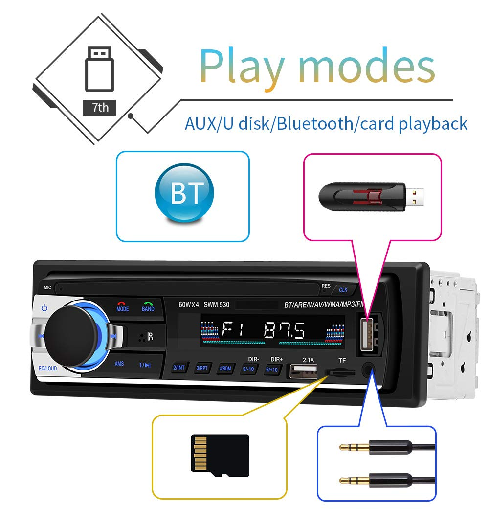 پخش کننده خودرو دو فلش بلوتوث دار JSD-530 BT ، رادیو دکلس دو فلش ، رادیو فلش دکلس دو فلش ، رادیو دکلس بلوتوث دار ، رادیو دو فلش بلوتوث دار ، رادیو فلش ارزان، رادیو دو فلش در کامی کالا ، CAR MP3 PLAYER JSD-530 BT