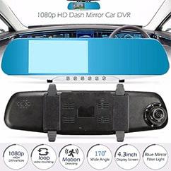 DVR آیینه ای دو دوربین خودرو 4.3 اینچی Car DVR