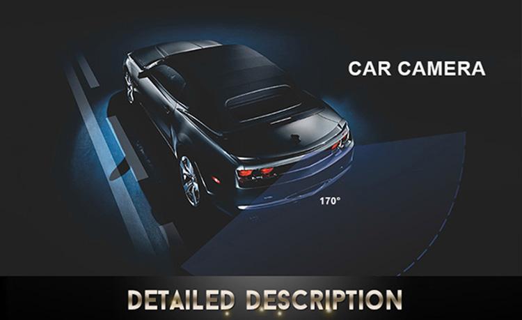دوربین عقب دو حالته LED دار خودرو ، دوربین عقب دو حالته خودرو Camera Rearview 8 LED