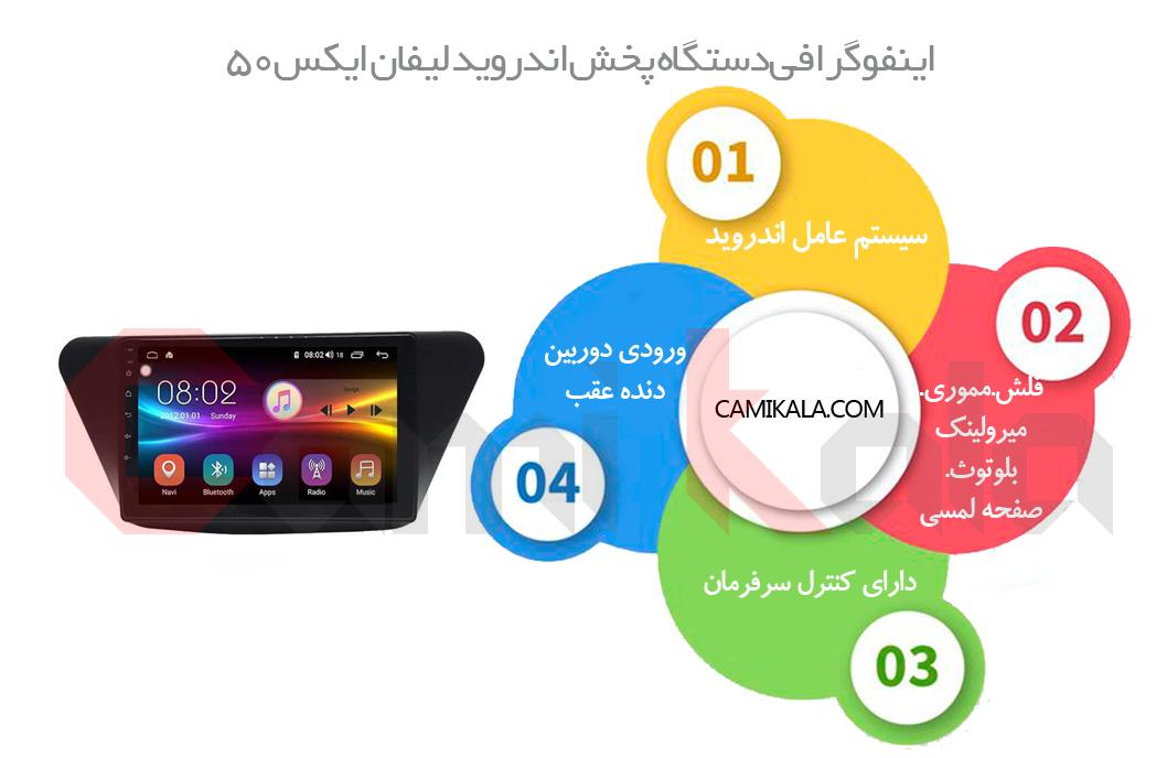 دستگاه پخش اندروید لیفان Car MultiMedia Android Lifan X50,پخش فابریک اندروید لیفان X50,مانیتور اندروید لیفان,قیمت دستگاه پخش اندروید لیفان Car MultiMedia Android Lifan X50 در کامی کالا, پخش اندروید لیفان ایکس 50