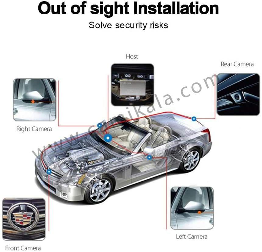 دوربین 360 درجه خودرو,پک دوربین 360 درجه خودرو