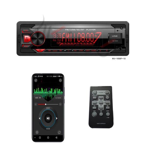 رادیو پخش بلوتوث دار دوفلاش وکال پاور مدل NV-1830F-10